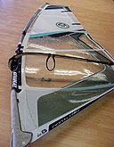 Repaired windsurfing sail